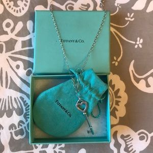 Tiffany & Co. Jewelry - Tiffany & Co. Sterling Silver Key Necklace